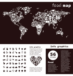 Food map2 vector