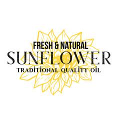 fresh sunflower oil logotype template vector image