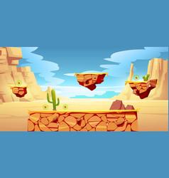 Game platform cartoon desert landscape ui design vector