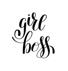 Girl boss handwritten positive inspirational quote vector