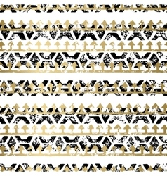 Gold and Black seamless pattern vector