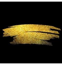 Gold sparkles on black background Gold glitter vector