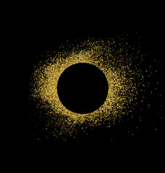 golden frame explosion confetti vector image
