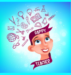 greeting card or poster to happy teachers day vector image
