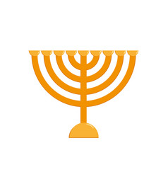 Hanukkah menorah jewish holiday candelabrum vector