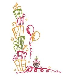 Happy birthday tendril vector