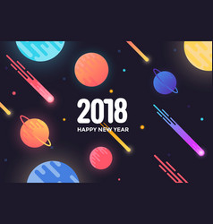 holiday new year card - 2018 4 vector image