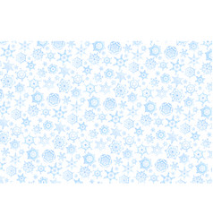 horizontal christmas background with lots blue vector image