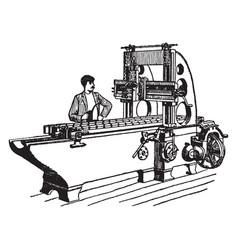 Iron planer vintage vector