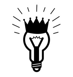 king bulb idea icon simple style vector image