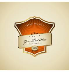 Label with ribbon vector