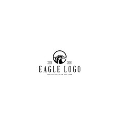Logo design letter e and eagle vector