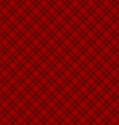 Lumberjack checkered diagonal square plaid red vector image