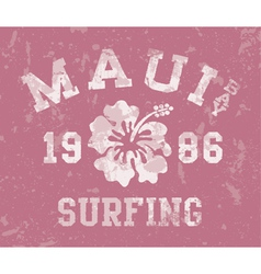 Maui Bay surfing vector