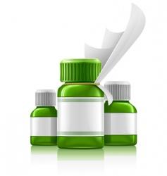 medication bottles vector image