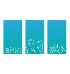modern cover design for social networks cards vector image
