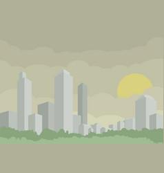 Modern silver city vector