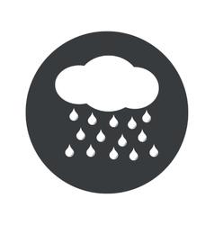 Monochrome round rain icon vector
