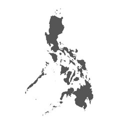 Philippines map black icon on white background vector