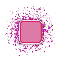 Pink Confetti Banner Set of Particles vector image