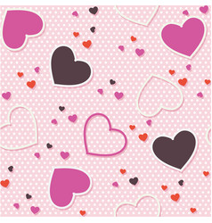 pink seamless pattern background valentine heart vector image