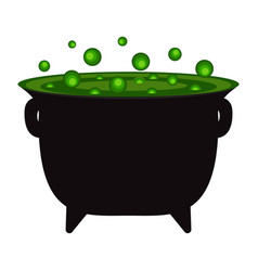 Potty with a witch potion for halloween vector