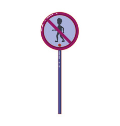 Prohibited passage to pedestrians vector