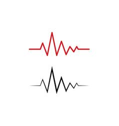 pulse line ilustration vector image