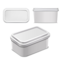 realistic detailed 3d white blank container for vector image