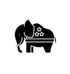 republican elephant black icon sign on vector image