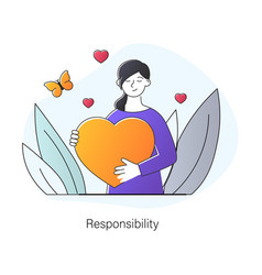 Responsibility and support concept vector