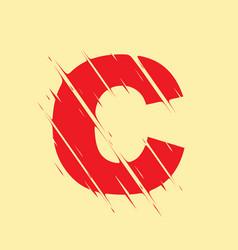 scribbled letter c vector image