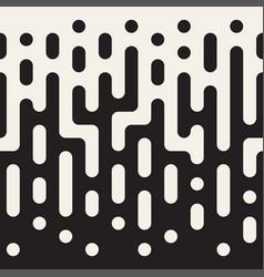 Seamless irregular lines halftone black vector