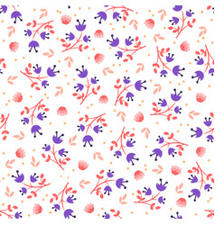 simple feminine flower seamless pattern vector image