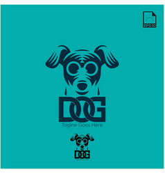 simple logo concept dog for petshop and animal vector image