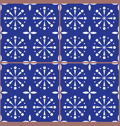 spanish or portuguese tiles pattern azulejo vector image