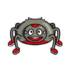spider friendly cute insect cartoon vector image