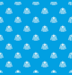 Striped pajama shirt pattern seamless blue vector