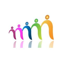 Teamwork people in file logo vector