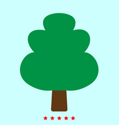 tree it is color icon vector image