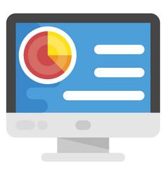 Website dashboard flat icon vector