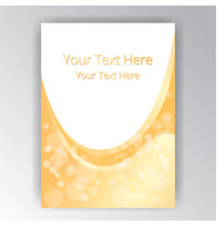 yellow orange white beautifull abstract page vector image