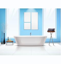 bathroom interior composition vector image