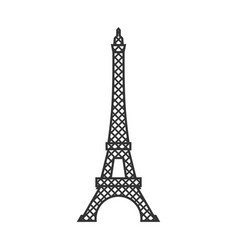 eiffel tower isolated paris attractions landmark vector image vector image