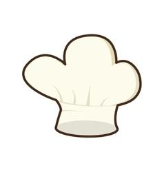 hat chef uniform cook kitchen vector image
