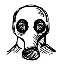 Man in a respirator vector image