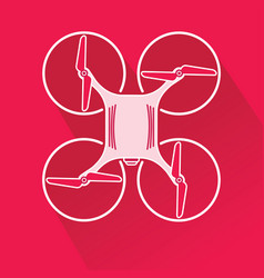 quadcopter drone from top vector image vector image