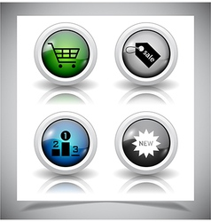abstract glass buttons EPS10 file vector image vector image