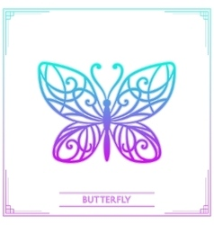 Butterfly Colored vector image
