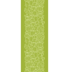 Cactus plants vertical seamless pattern background vector image